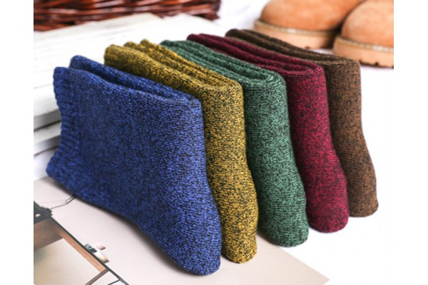 5 Pair/Lot Men's Thick Cotton Socks Autumn Winter Warm Towel Terry Socks Fame Style 10 Colors Dress Socks Men (FREE SHIIPING)